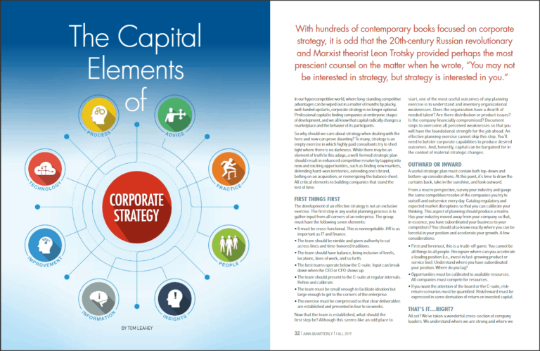 Capital Elements of Corporate Strategy